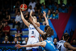 Lorela Cubaj of Italy during basketball match between Women National teams of Italy and Slovenia in Group phase of Women's Eurobasket 2019, on June 30, 2019 in Sports Center Cair, Nis, Serbia. Photo by Vid Ponikvar / Sportida