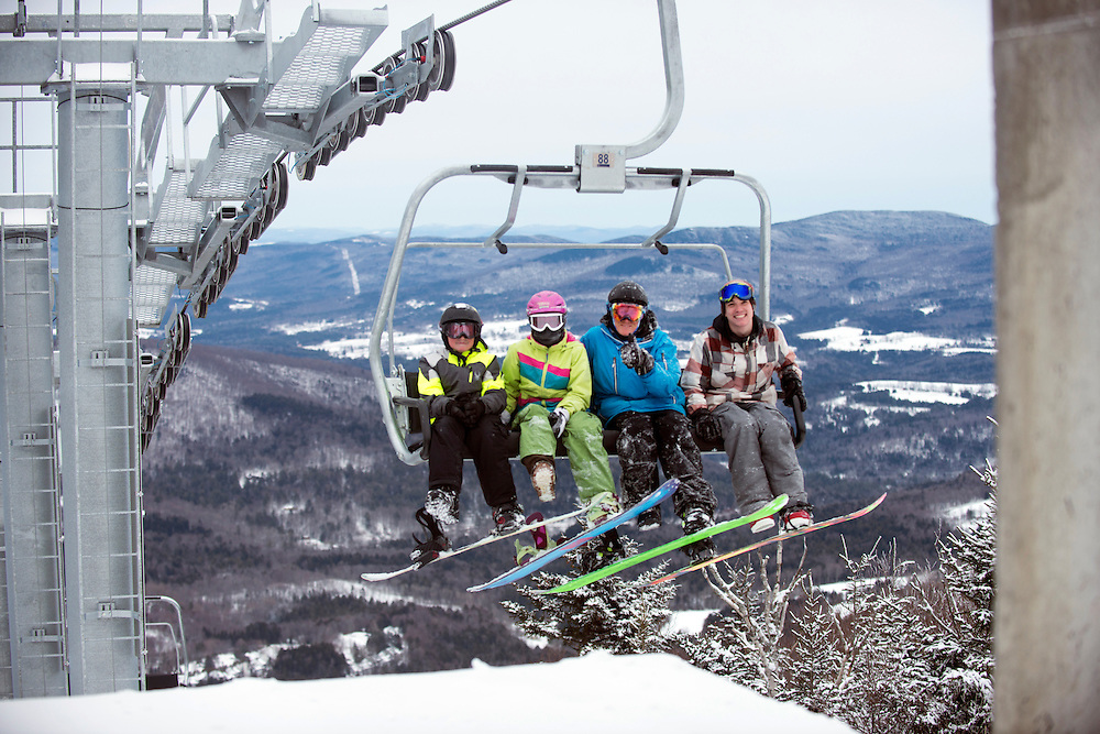 The new Valley House Quad Lift. Sugarbush Resort offers a wide variety of terrain for skiers and snowboarders alike. Vermont's Mad River Valley has great ski areas, dining, shopping and a strong sense of community. (Caleb Kenna for the New York Times)