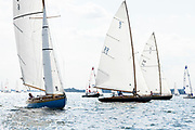 Ingwe sailing in the Yacht Racing Association of Long Island Sound season finale regatta.