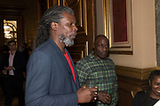 HURVIN ANDERSON; PAUL JONES, TenTen. The Government Art Collection/Outset Annual Award. Champagne reception to announce the inaugural artist Hurvin Anderson and unveil his 2018 print. Locarno Suite, Foreign and Commonwealth Office. SW1. 2 October 2018