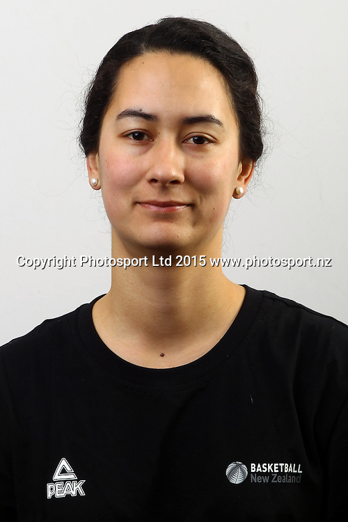Melinda Hodgson, New Zealand Tall Ferns, Womens National Basketball Team Headshots. Bruce Pullman Lodge, Auckland. 17 July 2015. Copyright Photo: William Booth / www.photosport.nz