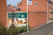 New housing estate Rendlesham, Suffolk