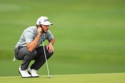 May 5, 2019 - Charlotte, NC, U.S. - CHARLOTTE, NC - MAY 05: Max Homa reads the 16th green during the final round of the Wells Fargo Championship on May 05, 2019 at Quail Hollow Club in Charlotte,NC. (Photo by Dannie Walls/Icon Sportswire) (Credit Image: © Dannie Walls/Icon SMI via ZUMA Press)
