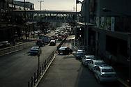Philippines, Metro Manila. Traffic in Bicutan.