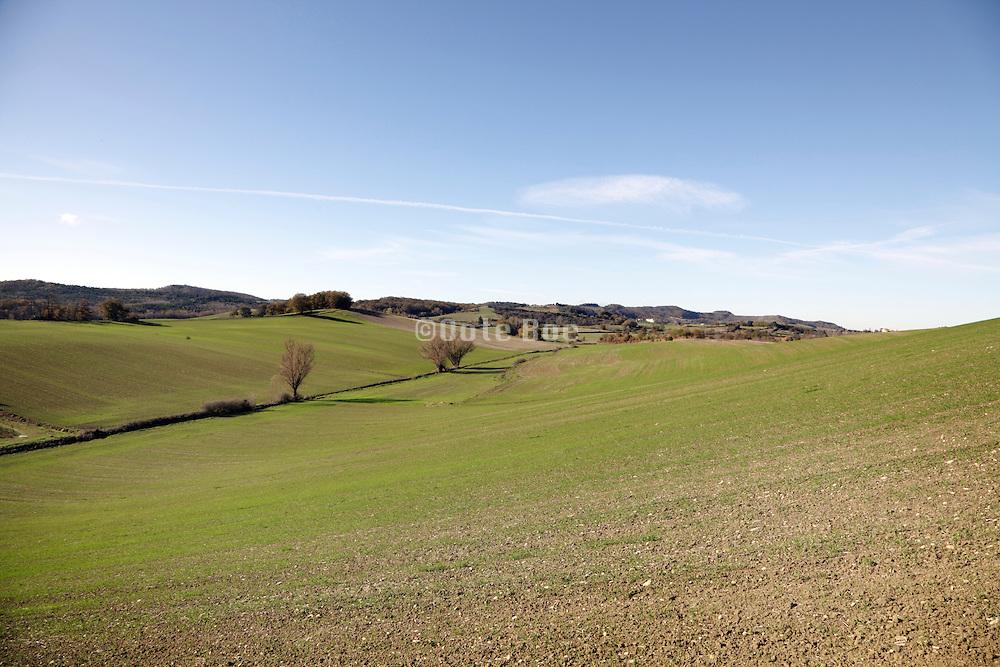 rural bare farming landscape France Languedoc Aude Razes