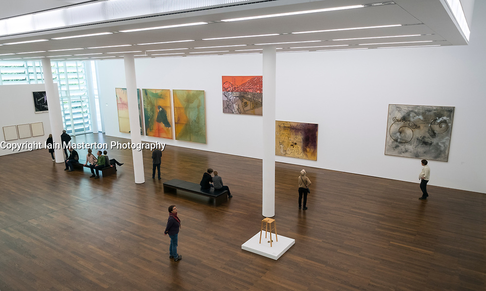 Paintings by Sigmar Polke at Museum Frieder Burda in Baden-Baden , Baden-Wurttemberg,Germany. -editorial use only