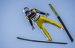 30.09.2018, Energie AG Skisprung Arena, Hinzenbach, AUT, FIS Ski Sprung, Sommer Grand Prix, Hinzenbach, im Bild Gregor Deschwanden (SUI) // Gregor Deschwanden of Switzerland during FIS Ski Jumping Summer Grand Prix at the Energie AG Skisprung Arena, Hinzenbach, Austria on 2018/09/30. EXPA Pictures © 2018, PhotoCredit: EXPA/ JFK