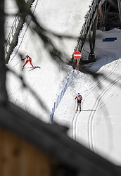 17.03.2017, Ramsau am Dachstein, AUT, Special Olympics 2017, Wintergames, Langlauf, Divisioning 5 km Classic, im Bild zwei Athleten // two athletes during the Cross Country Divisioning 5 km Classic at the Special Olympics World Winter Games Austria 2017 in Ramsau am Dachstein, Austria on 2017/03/17. EXPA Pictures © 2017, PhotoCredit: EXPA / Martin Huber