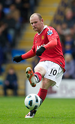 BOLTON, ENGLAND - Sunday, September 26, 2010: Manchester United's Wayne Rooney in action against Bolton Wanderers during the Premiership match at the Reebok Stadium. (Photo by David Rawcliffe/Propaganda)