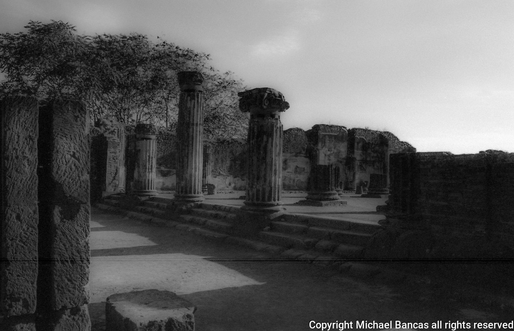 The Basilica of Pompeii, in ancient Popmpeii. The oldest basilica in the Roman world.