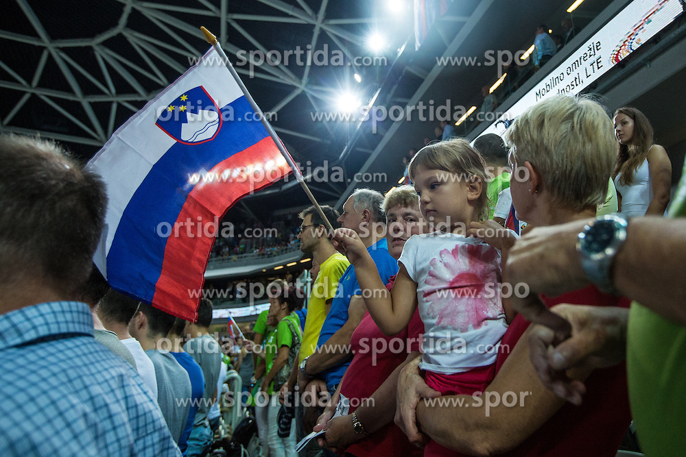 Friendly basketball match between National teams of Slovenia and Serbia in arena Stozice, on August 23 in Ljubljana, Slovenia. Photo by Grega Valancic / Sportida August 27, 2015