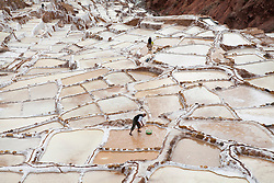 Salineras de Maras / Maras salt flats in Cusco, Peru.