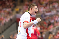09.04.2016, Ergo Arena, Gdansk, POL, IHF Herren, Olympia Qualifikation, Polen vs Chile, im Bild Lukasz Gierak // during the IHF men's Olympic Games handball qualifier between Poland and Chile at the Ergo Arena in Gdansk, Poland on 2016/04/09. EXPA Pictures © 2016, PhotoCredit: EXPA/ Newspix/ Tomasz Zasinski<br /> <br /> *****ATTENTION - for AUT, SLO, CRO, SRB, BIH, MAZ, TUR, SUI, SWE only*****
