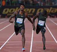 Fred Kerley USA 400m men winner  <br /> Roma 31-05-2018 Stadio Olimpico<br /> IAAF Diamond League Golden Gala <br /> Meeting Atletica Leggera - Track and Fields <br /> Foto Cesare Purini / Insidefoto