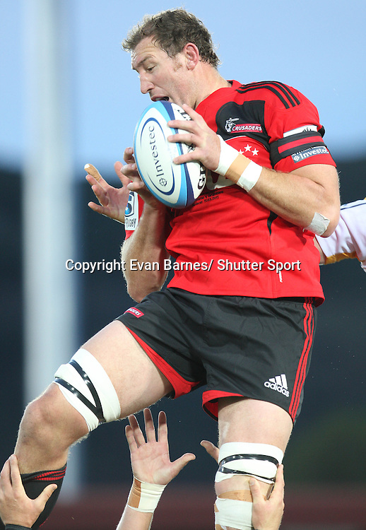 Chris jack in his 100th game for the Crusaders, 11 March 2011, Trafalgar Park, Nelson, New Zealand. Photo: Evan Barnes /  Photosport.