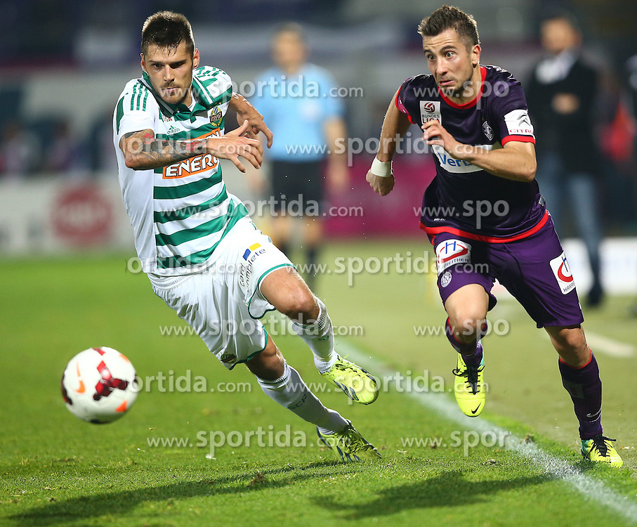 27.10.2013, Generali Arena, Wien, AUT, 1. FBL, FK Austria Wien vs SK Rapid Wien, 13. Runde, im Bild Christopher Trimmel, (SK Rapid Wien, #28) und Markus Suttner, (FK Austria Wien, #29) // during Austrian Bundesliga Football 13th round match, between FK Austria Vienna and SK Rapid Wien at the Generali Arena, Wien, Austria on 2013/10/27. EXPA Pictures © 2013, PhotoCredit: EXPA/ Thomas Haumer