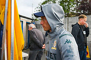 Leeds United midfielder Ezgjan Alioski (10) arrives at the ground during the Pre-Season Friendly match between Guiseley  and Leeds United at Nethermoor Park, Guiseley, United Kingdom on 11 July 2019.