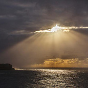 Sunrise over north Bondi seen from Bronte <br />