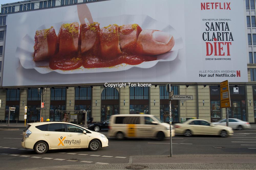 billboard commercial of netflix series in Berlin