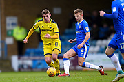 Gillingham FC midfielder Jake Hessenthaler (8) and Oxford United midfielder Ryan Ledson (8) during the EFL Sky Bet League 1 match between Gillingham and Oxford United at the MEMS Priestfield Stadium, Gillingham, England on 26 December 2017. Photo by Martin Cole.