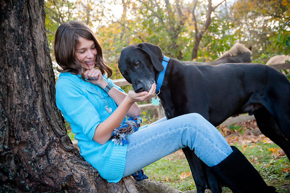 Carli Isaacson and her dog JayJay