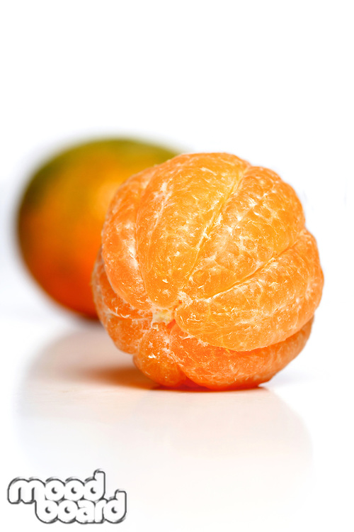 Mandarin on white background- studio shot