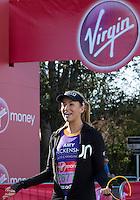 Amy Willerton (Miss Universe) Greenwich Park ahead of the start of The Virgin Money London Marathon 2014 on Sunday 13 April 2014<br /> Photo: Neil Turner/Virgin Money London Marathon<br /> media@london-marathon.co.uk