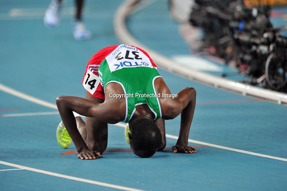 Ibrahim Jeilan (ETH),AUGUST 28, 2011 - Athletics :The 13th IAAF World Championships in Athletics - Daegu 2011, Men's 10000m Final at the Daegu Stadium, Daegu, South Korea. (Photo by Jun Tsukida/AFLO SPORT) [0003]