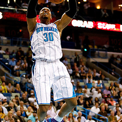 November 9, 2010; New Orleans, LA, USA; New Orleans Hornets power forward David West (30) dunks against the Los Angeles Clippers during the third quarter at the New Orleans Arena. Mandatory Credit: Derick E. Hingle
