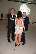 MARCO DICESARIA; NANCY DELL D'OLIO; RICHARD YOUNG, Opening of Love is what you want. Exhibition of work by Tracey Emin. Hayward Gallery. Southbank Centre. London. 16 May 2011. <br /> <br />  , -DO NOT ARCHIVE-© Copyright Photograph by Dafydd Jones. 248 Clapham Rd. London SW9 0PZ. Tel 0207 820 0771. www.dafjones.com.