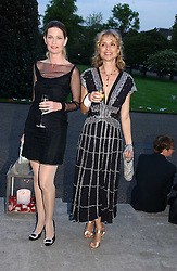 Left to right, EMMA TWEED and actress MARYAM D'ABO at a party to celebrate the opening of Roger Vivier in London held at The Orangery, Kensington Palace, London on 10th May 2006.<br /><br />NON EXCLUSIVE - WORLD RIGHTS