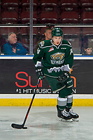 KELOWNA, BC - JANUARY 09:  Gianni Fairbrother #24 of the Everett Silvertips warms up with the puck against the Kelowna Rockets at Prospera Place on January 9, 2019 in Kelowna, Canada. (Photo by Marissa Baecker/Getty Images)