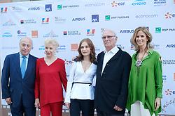 Carlos Saura, Isabelle Huppert attends Prix Dialogo 2018 ceremony at Casa del Monico on June 19, 2018 in Madrid, Spain. 19 Jun 2018 Pictured: Carlos Saura, Isabelle Huppert, Cristina Garmendia. Photo credit: MEGA TheMegaAgency.com +1 888 505 6342