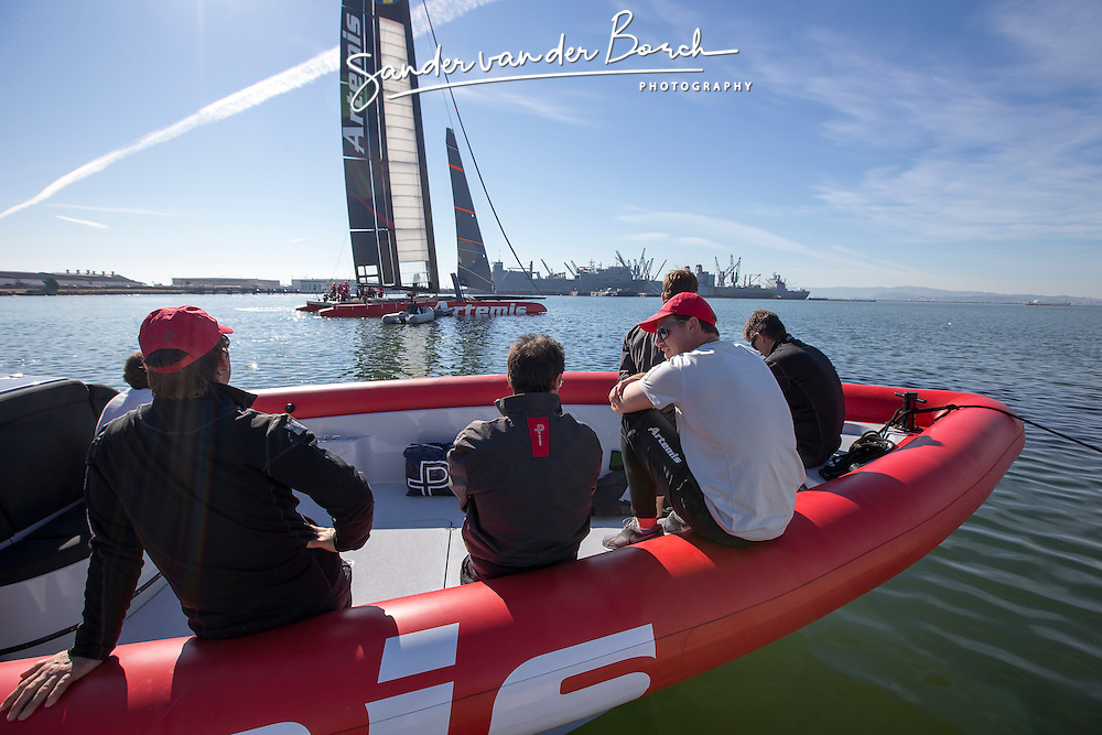 First sailing day of the AC72 of Artemis Racing, 13 November 2012, Alameda, USA