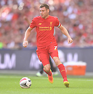 James Milner of Liverpool during the International Champions Cup match against FC Barcelona at Wembley Stadium, LondonPicture by Andrew Timms/Focus Images Ltd +44 7917 236526<br /> 06/08/2016