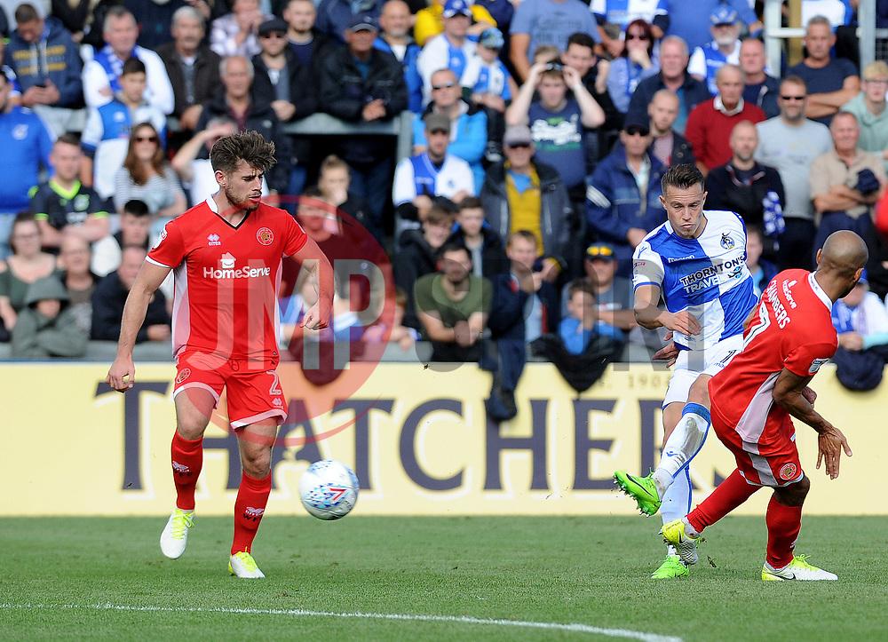 Billy Bodin of Bristol Rovers gets a shot away - Mandatory by-line: Neil Brookman/JMP - 09/09/2017 - FOOTBALL - Memorial Stadium - Bristol, England - Bristol Rovers v Walsall - Sky Bet League One