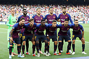 Players of FC Barcelona pose for a team photo prior to the UEFA Champions League, Group B football match between FC Barcelona and PSV Eindhoven on September 18, 2018 at Camp Nou stadium in Barcelona, Spain - Photo Manuel Blondeau / AOP Press / ProSportsImages / DPPI