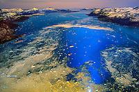 Aerial over the Prince William Sound, near Valdez, Alaska