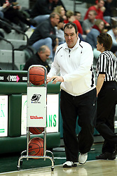 10 January 2015:  Equipment Manager Tony Robbins <br />  during an NCAA women's division 3 CCIW basketball game between the Carthage Reds and the Illinois Wesleyan Titans in Shirk Center, Bloomington IL