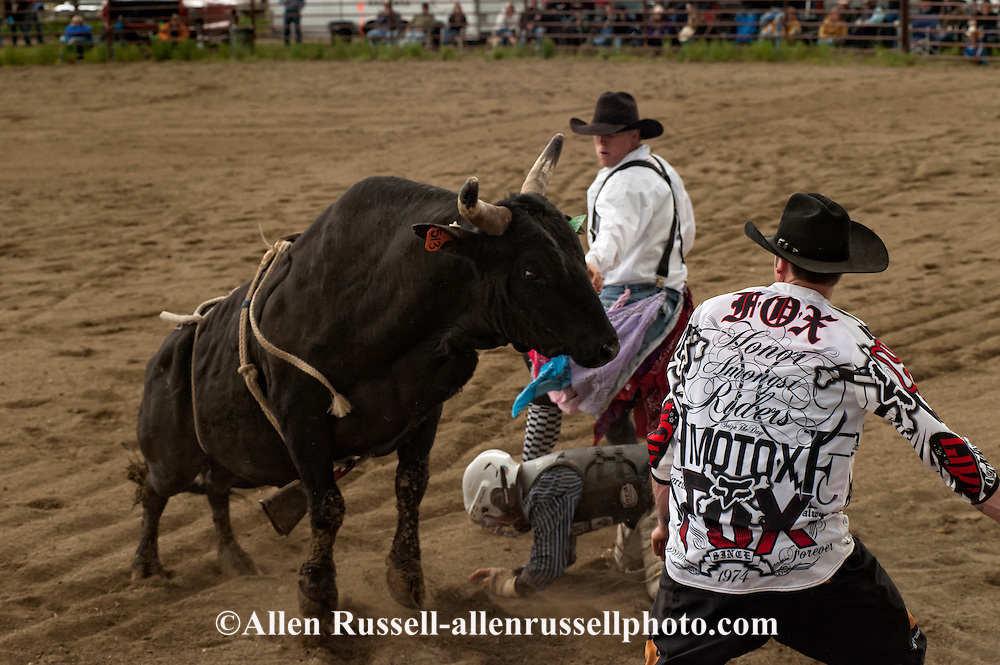Bull Fighters, rescue rider, Wilsall Rodeo, Montana, Ty Berg, Cork Beckham