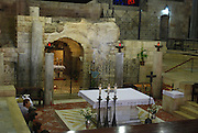 Israel, Nazareth, Basilica of the Annunciation the grotto