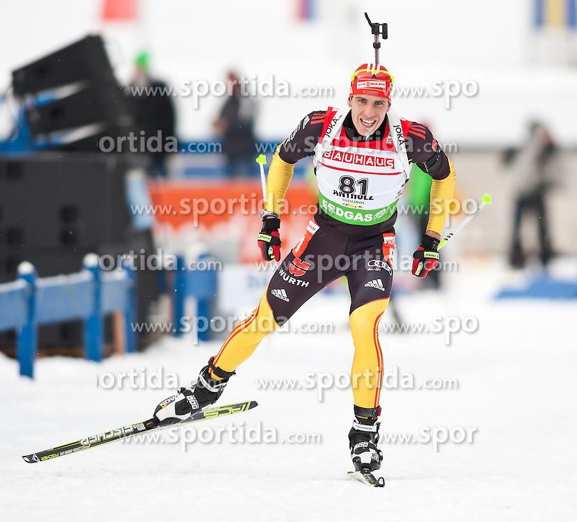 "20.01.2012, Südtirol Arena, Antholz, ITA, E.ON IBU Weltcup, 6. Biathlon, Antholz, Sprint Herren, im Bild Arnd Peiffer (GER) // Arnd Peiffer (GER) during Sprint Men E.ON IBU World Cup 6th, ""Southtyrol Arena"", Antholz-Anterselva, Italy on 2012/01/20, EXPA Pictures © 2012, PhotoCredit: EXPA/ Juergen Feichter"