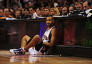 Mar. 6 2010; Phoenix, AZ, USA; Phoenix Suns forward Grant Hill (33) sits on the sideline in the second half at the US Airways Center. The Suns defeated the Pacers 113 to 105. Mandatory Credit: Jennifer Stewart-US PRESSWIRE.