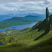 The Old Man of Storr, Trotternish on the Isle of Skye on a late summer afternoon.