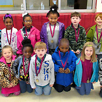 HOUSTON KINDERGARTEN STUDENTS OF MONTH<br /> (Courtesy Photo)<br /> Students of the Month named recently at Houston Lower Elementary are, front row from left, Ryleigh Stone, Autumn Reynolds, Labryia Duff, Dallius Langley, Jacob Pulliam, Sohpie Grace Simmons and Brian Buckley. Back row from left, Kalyn Murphree, Kinsley Clark, Genesis Cayson, Shymya Pratt, Grady Roberts and Matthew Moore.