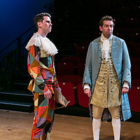 The Rehearsal by Jean Anouilh;<br /> Directed by Jeremy Sams;<br /> Edward Bennett as Hero;<br /> Joseph Arkley as Villebosse;<br /> Minerva Theatre, Chichester;<br /> 13 May 2015.