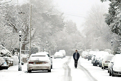 Licensed to London News Pictures 21/01/2015<br /> Snowy conditions, Harrogate, North Yorkshire, England<br /> Photo Credit: Sam Atkins/LNP