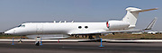 Israeli Air Force Gulfstream G550 business jet aircraft produced by General Dynamics' Gulfstream Aerospace unit