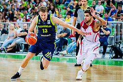 Miha Lapornik of Slovenia during basketball match between National teams of Slovenia and Turkey in Round #8 of FIBA Basketball World Cup 2019 European Qualifiers, on September 17, 2018 in Arena Stozice, Ljubljana, Slovenia. Photo by Ziga Zupan / Sportida