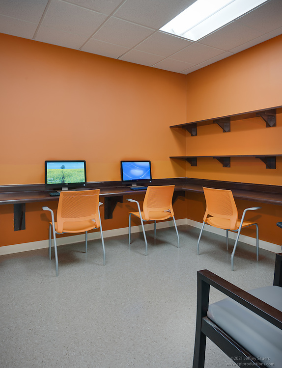 Interior image of the Computer Room at the Allendale Apts in Baltimore Maryland by Jeffrey Sauers of Commercial Photographics, Architectural Photo Artistry in Washington DC, Virginia to Florida and PA to New England